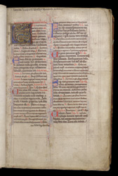 Ownership Inscription And Illuminated initial, In The Coldingham Breviary